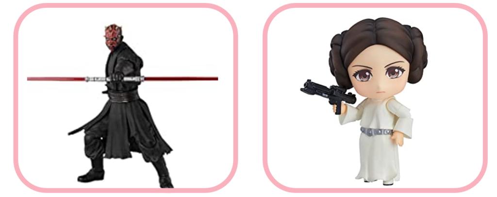 ダース・モールとレイア姫の買取価格を比較